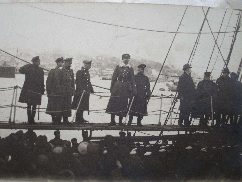 Врангель в Севастополе на корабле 1920